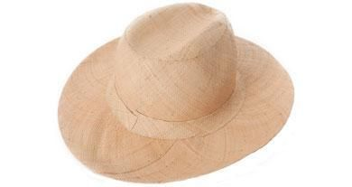 Panama hat with natural band