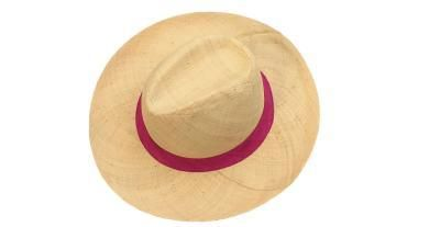 Panama hat with pink band
