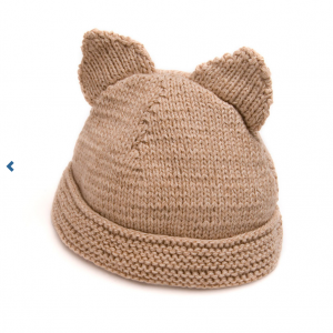 Mama Ursula organic cotton hat with ears